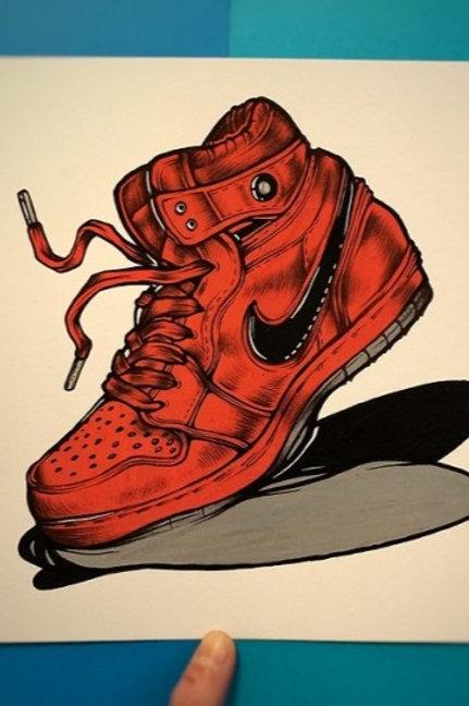 Crimson Sneaker