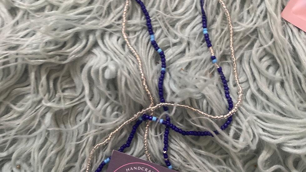 Blue fever Waist beads