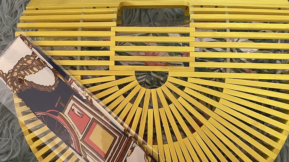 Yellow Bamboo handbag