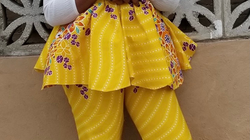 Ankara 2 piece pants suit—