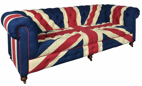 Iconic British Union Jack Flag Sofa Chair. Vintage Brit Rock/pop Rock And  Roll Furniture That Never Goes Out Of Style. Fabric Is Velvet With A Solid  Wooden ...