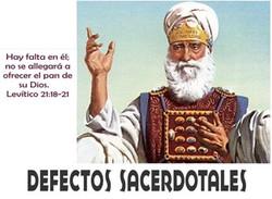 DEFECTOS SACERDOTALES