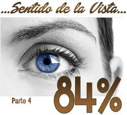 Sentido de la vista 84%