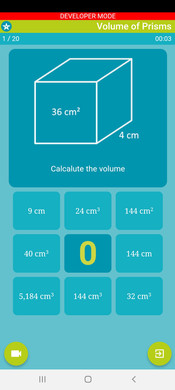 Mobile App - Volume of Prisms