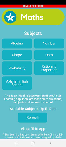 Mobile App - Select your topic