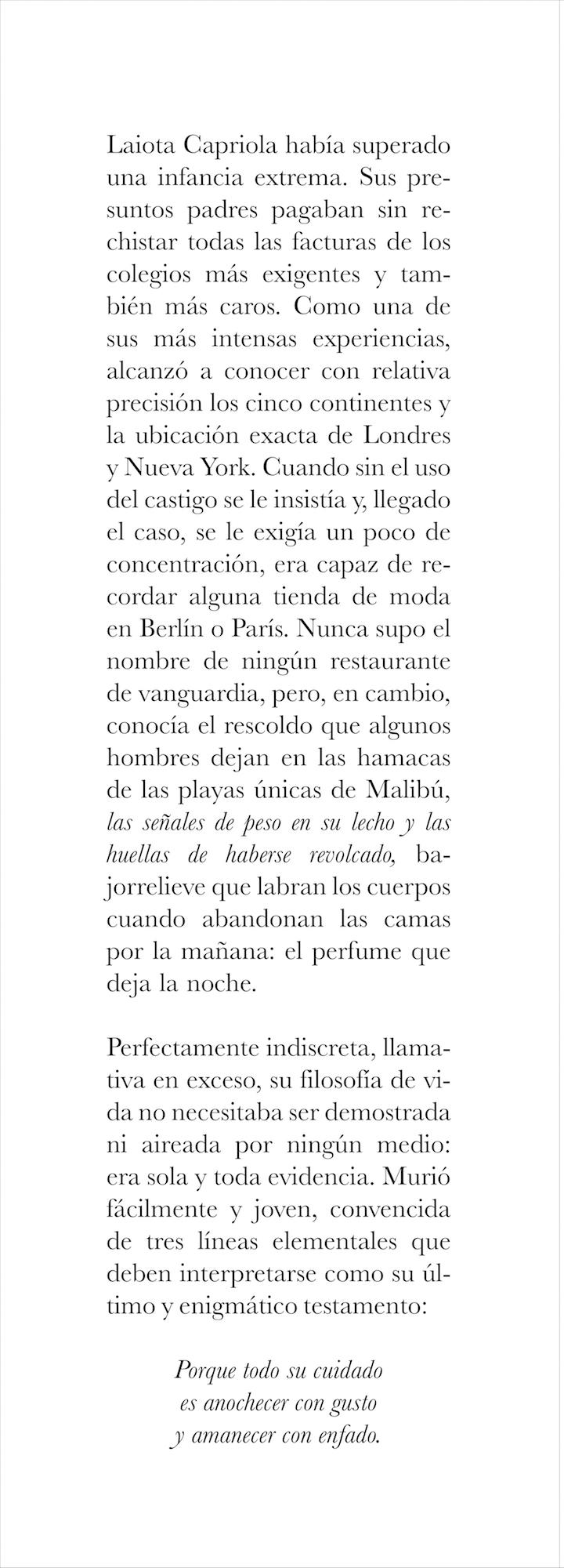 Latoya Capriola (fragmento)