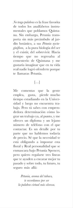 Petunia Spencer (fragmento)