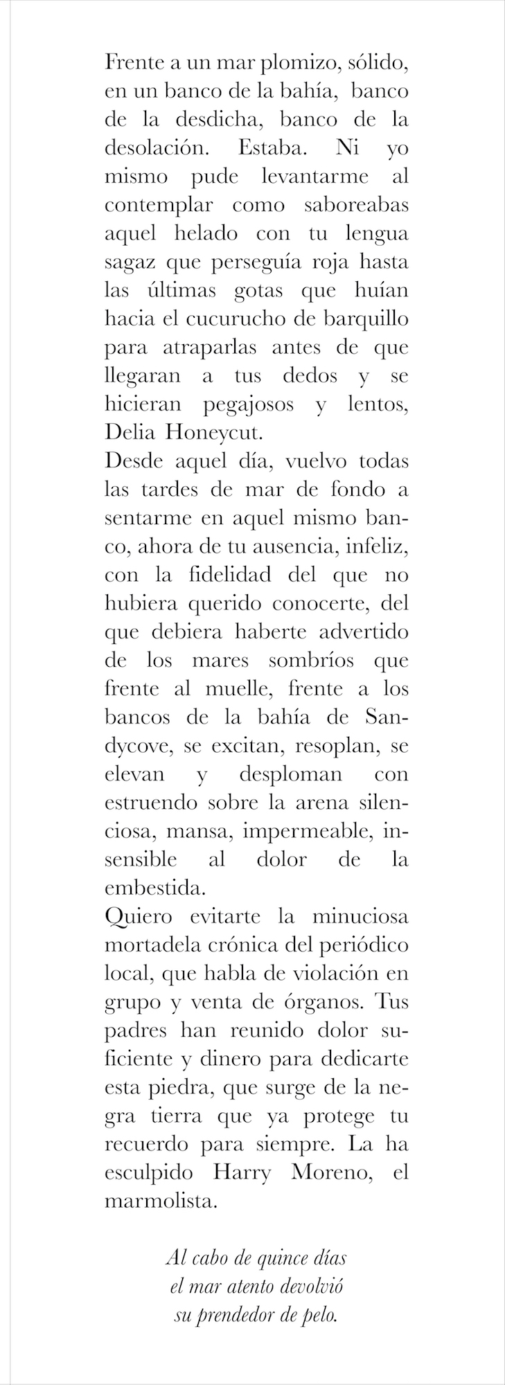 Delia Honeycut (fragmento)