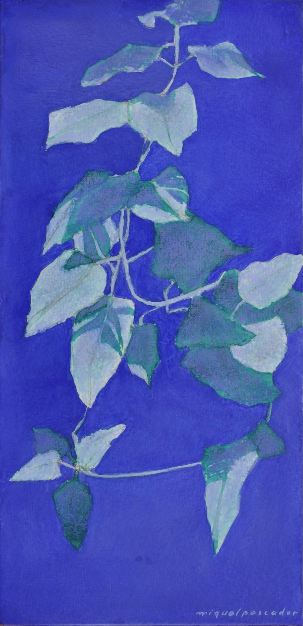 Ritmes verds sobre blau II