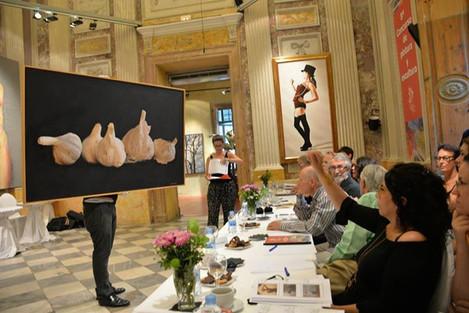 Ritmes II és votada a la sessió de selecció d'obres per part del Jurat de Figurativas'15