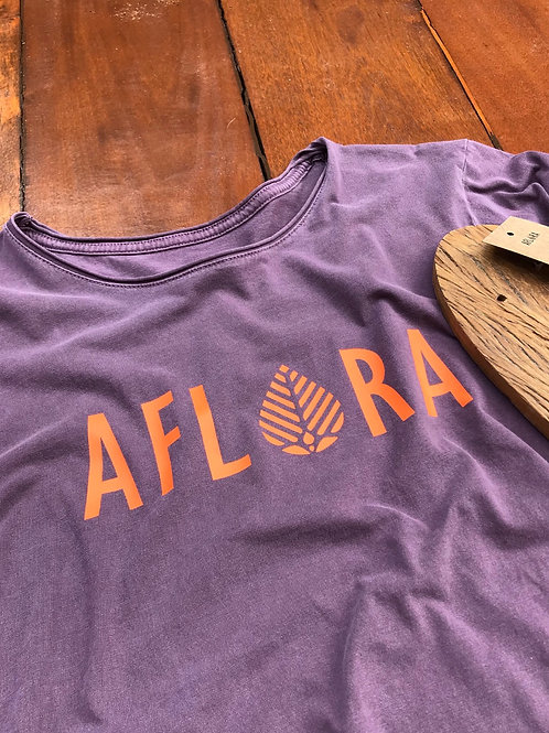 Camiseta Aflora Logo - Orange