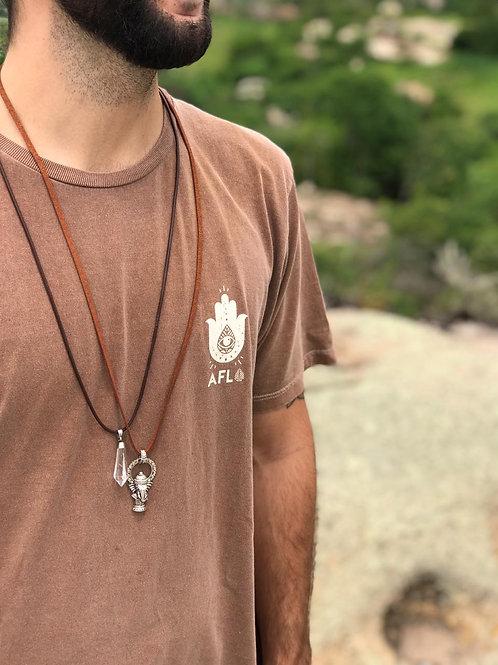 Camiseta Aflora Hamsa - Marrom