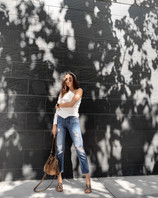 3 Outfits: Snake Print Mules