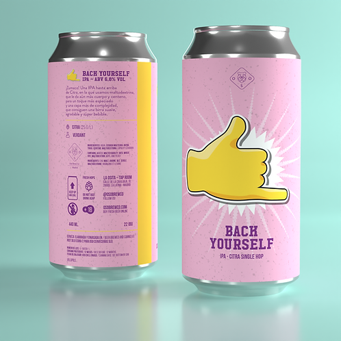Back Yourself -  Citra IPA - 1, 4, 12, 16 Latas 44cl