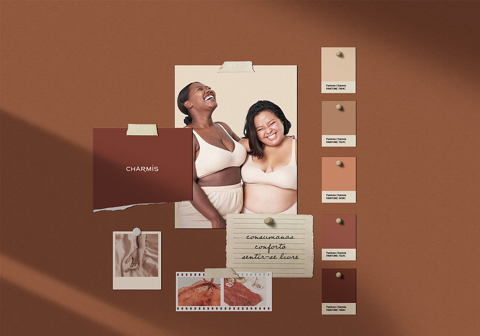 Criação de marca de moda lingerie Charmi