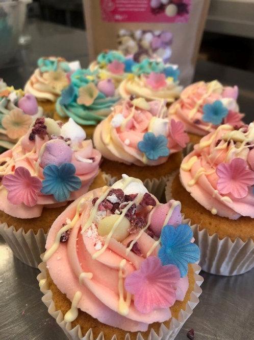 Unicorn themed cupcakes