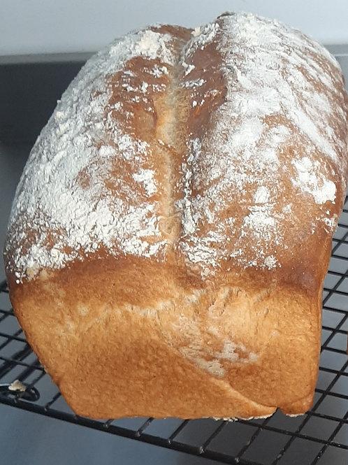 White uncut farmhouse loaf