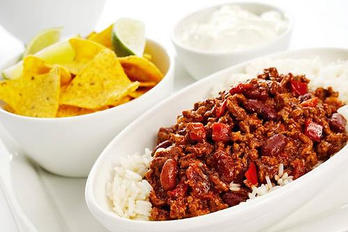 Chilli con carne meal for 2 - local delivery or collection