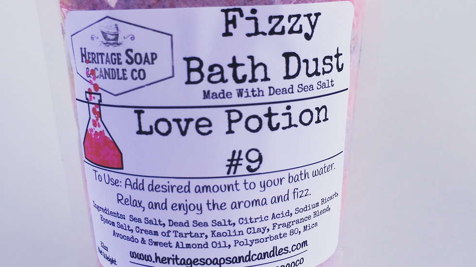 Fizzy Bath Dust - Love Potion #9