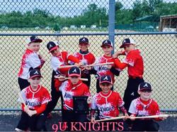 9u Knights 2nd place