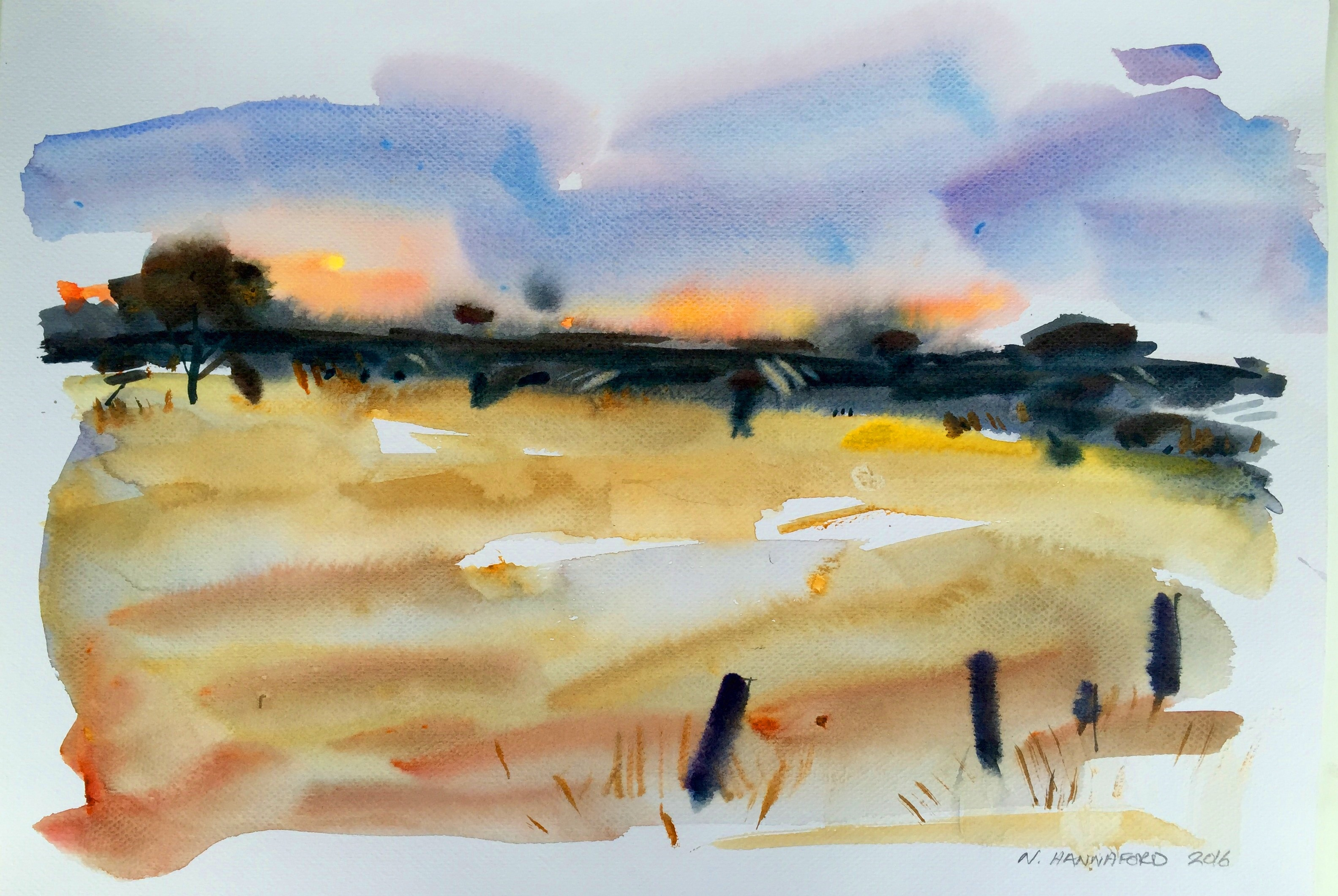 Morning light, KI - watercolour