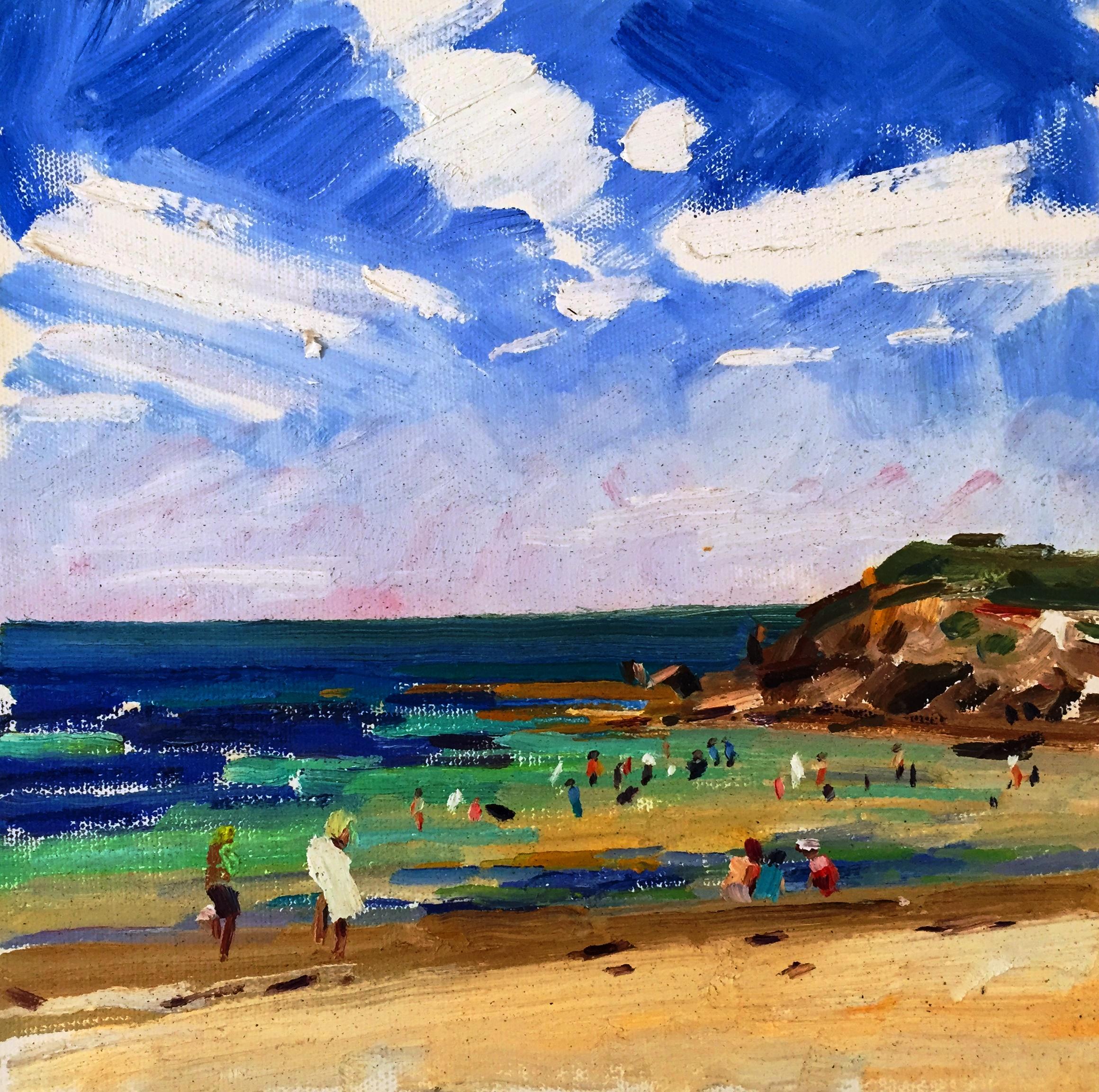 Sydney beach - oil