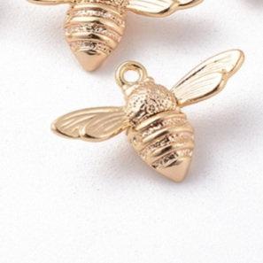 תליון דבורה ציפוי זהב אמיתי