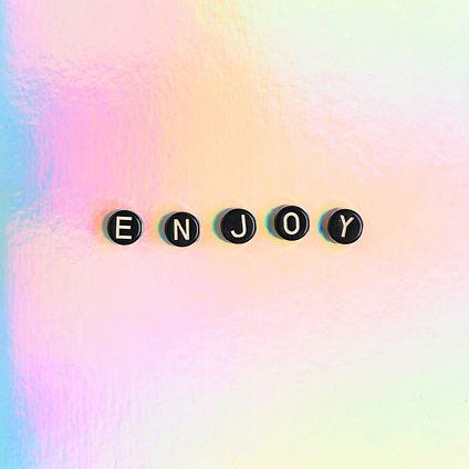 ENJOY word beads lettering typography.jp