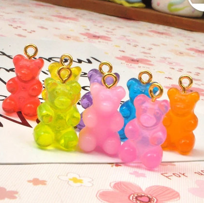 תליון דובי גומי - בחר צבע