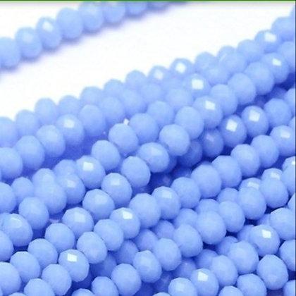 """חוט חרוזי קריסטל קטנטנים כחול-לילך 2מ""""מ"""