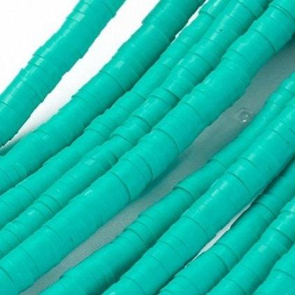 """חוט חרוזי סיליקון בצבע טורקיז 4 מ""""מ"""