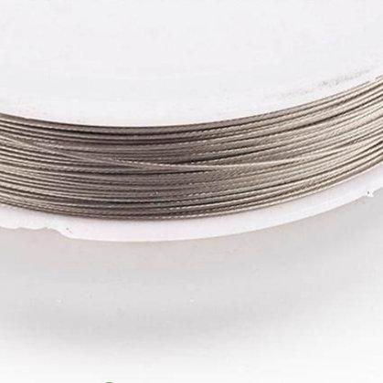 """גליל של חוט חזק מתכת בציפוי נילון 0.45 מ""""מ - בחר צבע"""
