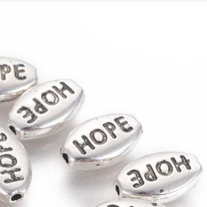 חרוז HOPE כסוף