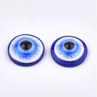 """עשרים וחמישה קישוטי עיניים עם נצנצים להדבקה על כפכפים 1ס""""מ"""