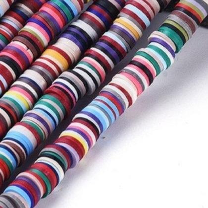 """חוט חרוזי סיליקון צבעוניים בגוונים כהים 5 מ""""מ"""