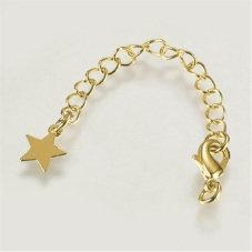 ציפוי זהב אמיתי, עמיד: סוגר לובסטר, שרשרת הארכה, טבעות וכוכב