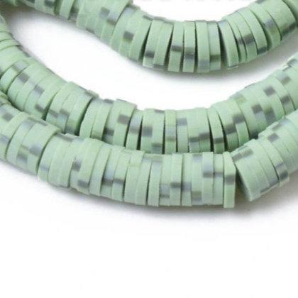 """חוט חרוזי סיליקון ירוק עם נקודות 6 מ""""מ"""