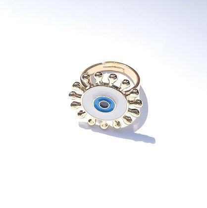 טבעת מוזהבת עין שימשית