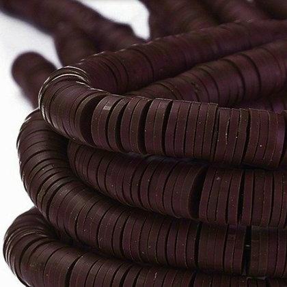 """חוט חרוזי סיליקון בצבע חום שוקולד 8 מ""""מ"""