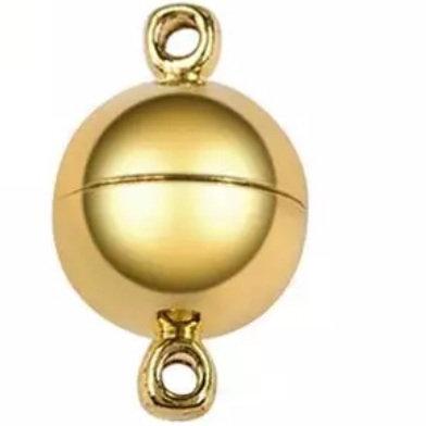 """סוגר מגנטי 10×15 מ""""מ ציפוי זהב 24 קארט"""