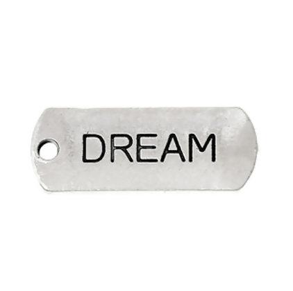 """תליון דיסקית כסוף 8×21 מ""""מ Dream"""