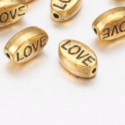 חרוז LOVE מוזהב