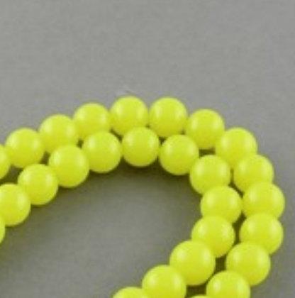 חרוזים בצבע צהוב זוהר