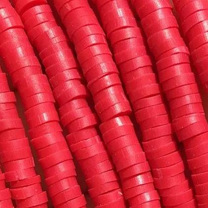 """חרוזי סיליקון בצבע אדום  6 מ""""מ"""