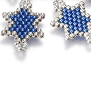 אלמנט מגן דוד כחול וכסוף