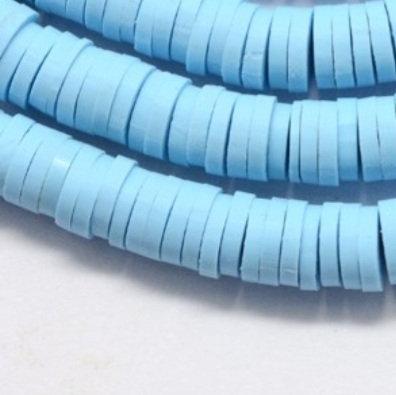 """חרוזי סיליקון בצבע תכלת  שמים 6 מ""""מ"""