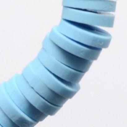 """חוט חרוזי סיליקון בצבע תכלת שמים 8 מ""""מ"""