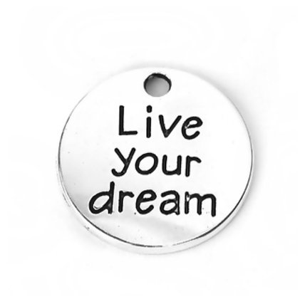 תליון כסוף Live your dream