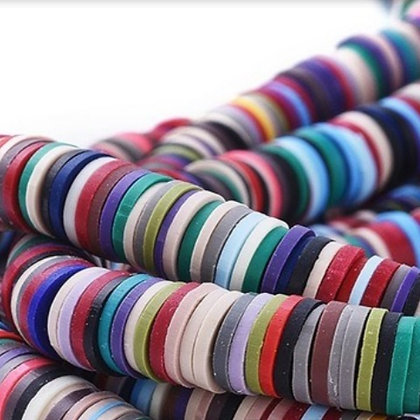 """חוט חרוזי סיליקון צבעוניים בגוונים כהים 4 מ""""מ"""