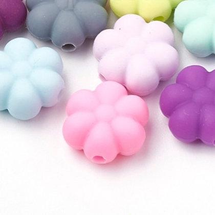 חרוז סיליקון פרח - בחר צבע